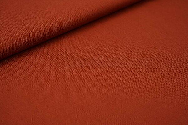 Canvas-Stoff Dekostoff uni rostrot