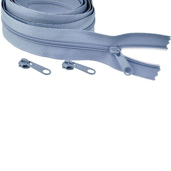 Endlos Spiral Reißverschluss uni taupe blau jeansblau 3 mm