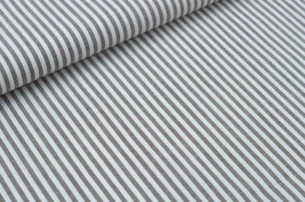 Baumwollstoff Baumwolle Streifen braun / weiß meliert