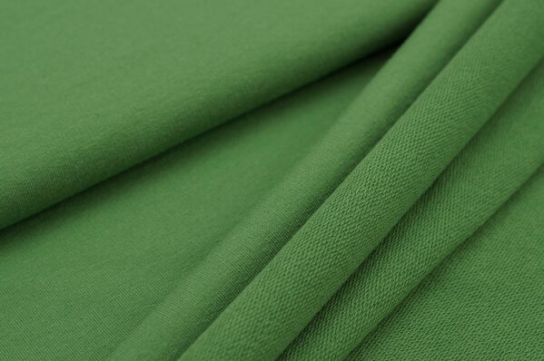Baumwoll-Sweat MARIE uni grün