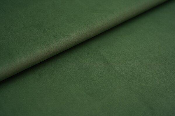 Samtiger Velours Dekostoff Velvet einfarbig uni grün