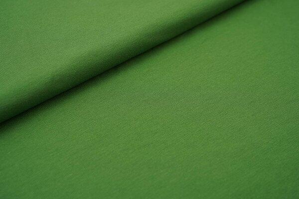 Weicher Baumwoll Jersey uni olivgrün