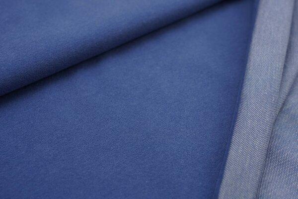 Kuschel Jacquard-Sweat Max Uni taupe blau mit off white