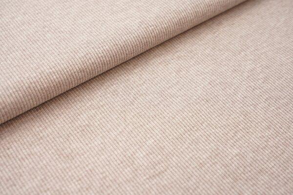 Baumwoll-Rip-Jersey einfarbig uni graubraun meliert