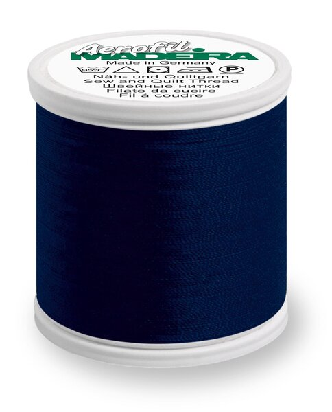 Madeira Nähgarn Aerofil No. 120 Farbe 8420 dunkelblau