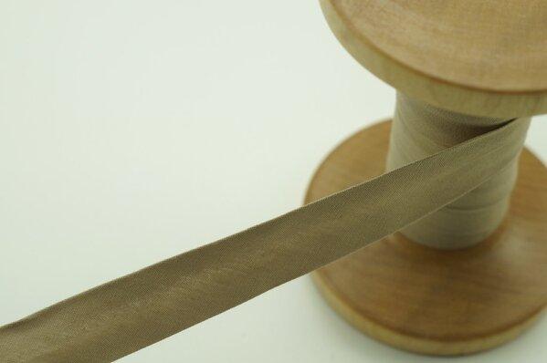 Schrägband Baumwolle 1,5 cm breit uni sand 3 m