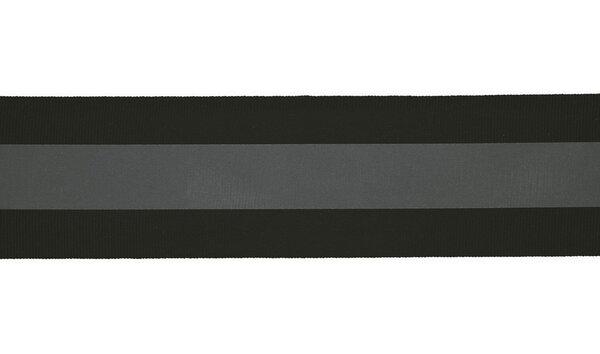 Reflektierendes Band schwarz / silber 50 mm Reflektionsband Reflektorband
