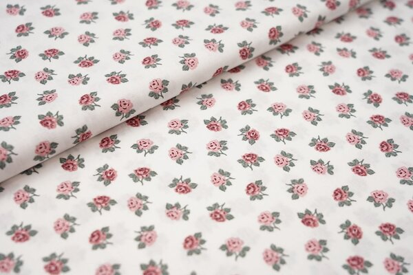 Baumwolle Rosen auf weiß Blumen
