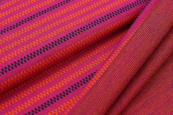 Jacquard-Sweat Ben Linien Muster Streifen amarant pink / orange / navy blau