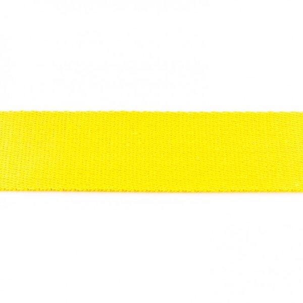 Breites Gurtband uni gelb 40 mm