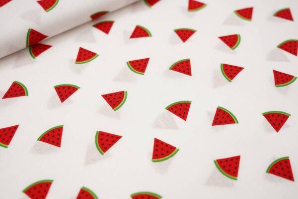 Baumwolle mit Wassermelonen auf weiß