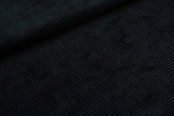 Cord-Jersey schmal uni anthrazit dunkelgrau