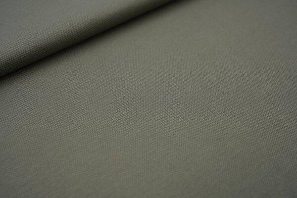 Baumwoll-Jersey mit Struktur Piqué Stoff uni armee grün
