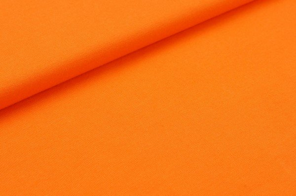 Baumwoll-Jersey uni orange
