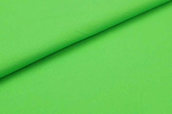 Baumwoll-Jersey Digitaldruck uni leuchtgrün
