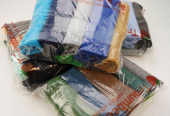 Stoffpaket Bündchen gerippt Jungen 3 m verschiedene Farben gemischt