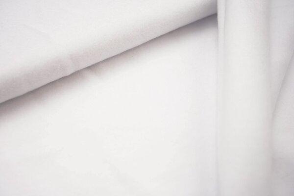 Baumwoll-Fleece uni weiss