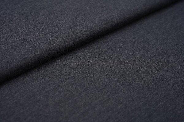 Baumwoll-Jersey einfarbig uni navy dunkelblau meliert