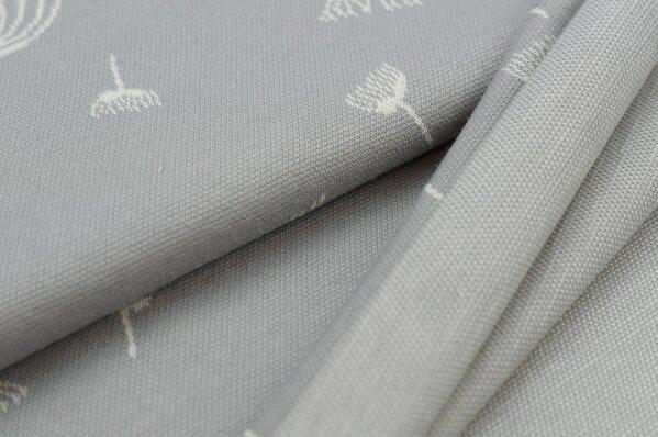Jacquard-Sweat Ben off white Pusteblumen auf hellgrau