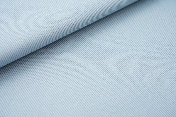 Baumwoll-Rip-Jersey einfarbig uni helles jeansblau