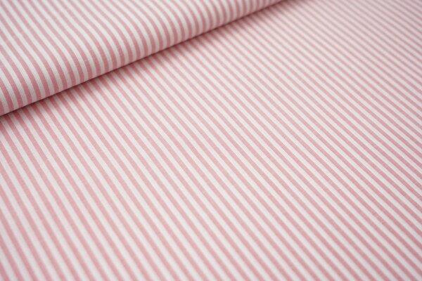 Baumwollstoff Baumwolle Streifen hell rot / weiß meliert