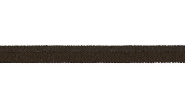 Elastisches Schimmer Paspelband dunkelbraun 10 mm