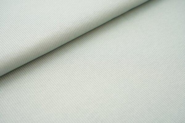 Baumwoll-Rip-Jersey einfarbig uni altmint