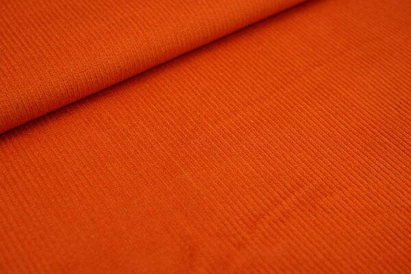 Elastischer Cordstoff uni orange Stretch-Cord