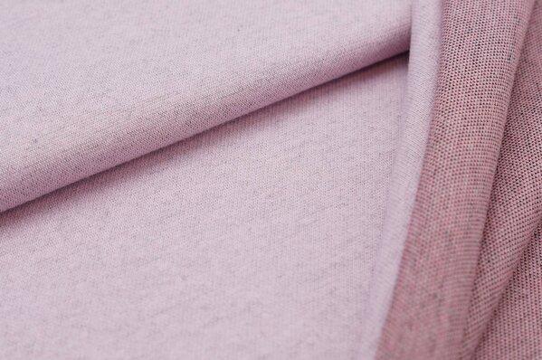 Jacquard-Sweat Ben rosa Uni mit rosa koralle schwarz dunkelgrauer Rückseite