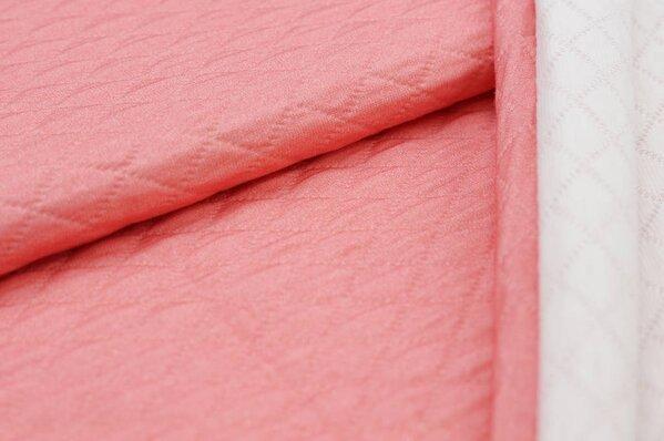 Stepp-Stoff Digitaldruck uni pastell lachsrot