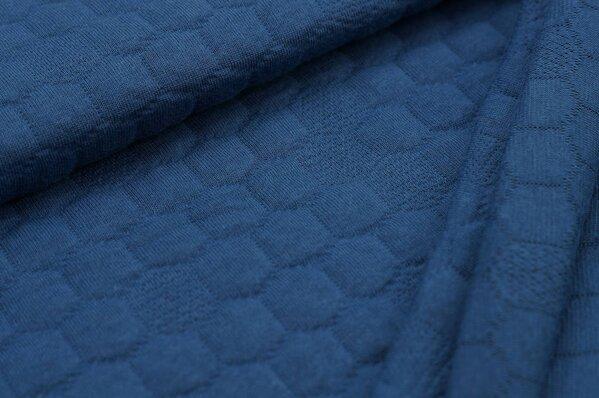 Stepp-Stoff Uni Wabenmuster taupe blau Steppsweat