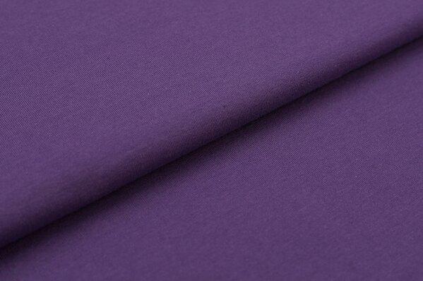 XXL Baumwoll-Jersey Marie uni dunkel lila