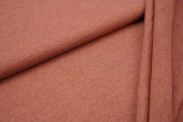 Baumwoll-Sweat Recycelt einfarbig uni rostrot meliert