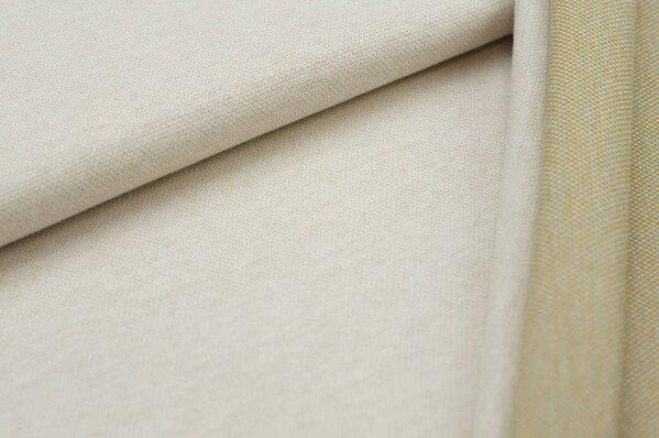 Jacquard-Sweat Ben off white Uni mit senf eisblau und off white Rückseite