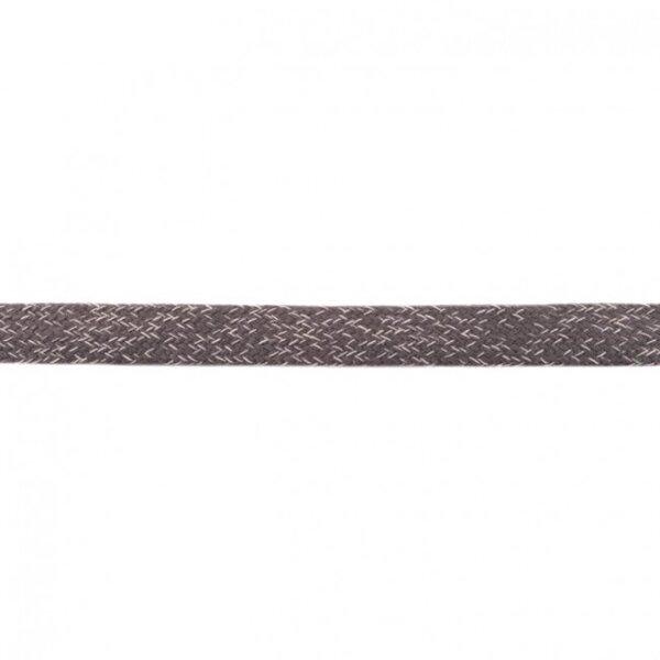 Kordel flach dunkelgrau meliert 20 mm breit