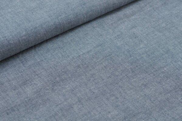 Baumwollstoff Baumwolle uni sehr dunkelblau meliert