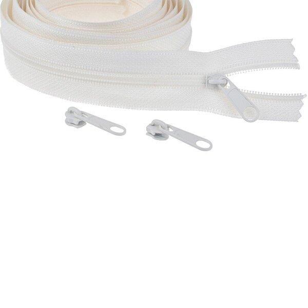 Endlos Spiral Reißverschluss uni off white 3 mm