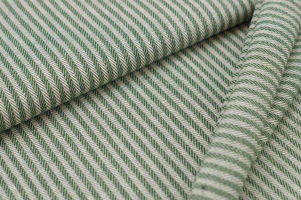 Canvas-Stoff Dekostoff Streifen Linien-Muster grün / weiß