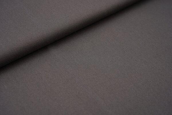 Canvas-Stoff Baumwoll Dekostoff einfarbig uni taupegrau