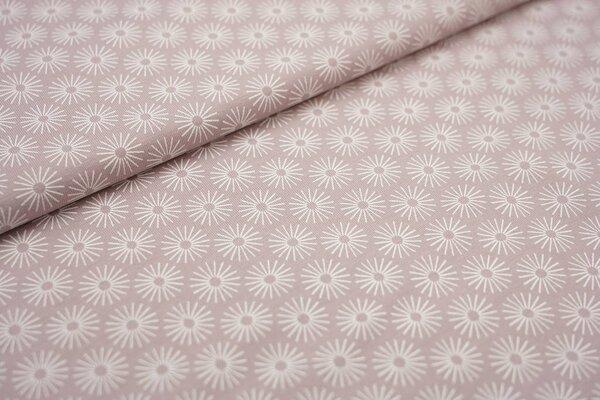 Baumwoll-Jersey weiße Blumen auf pastell violett