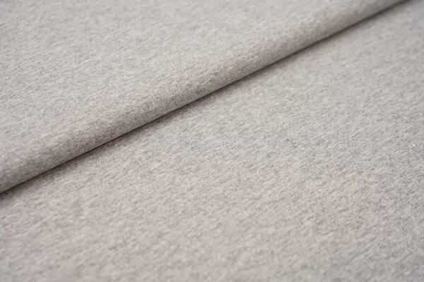 Baumwoll-Jersey Recycelt einfarbig uni hellgrau meliert