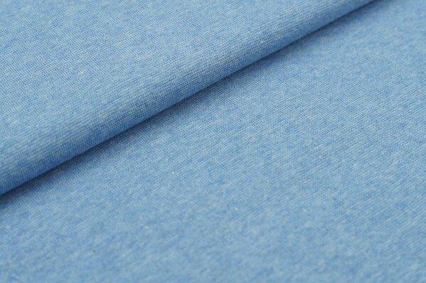 XXL Bündchen Maya glatt Schlauchware pastell jeansblau melange
