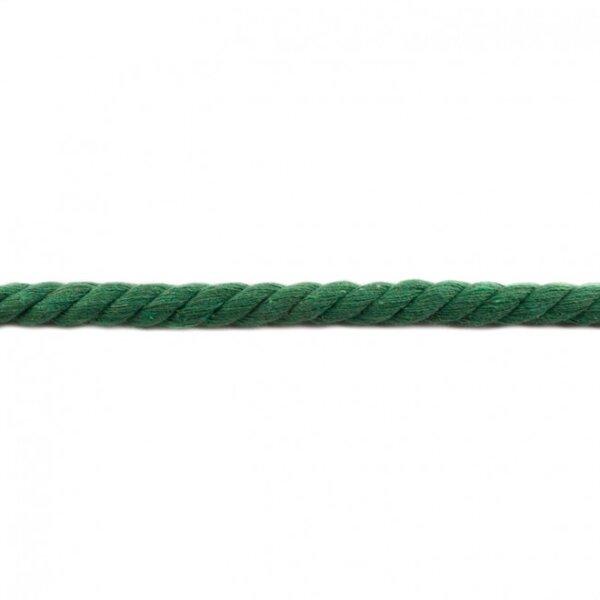 Dicke Baumwoll-Kordel gedreht rund uni apfelgrün 12 mm breit