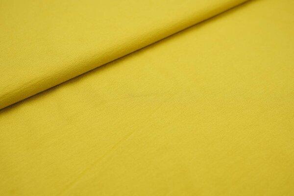 Viskose-Jersey uni senf