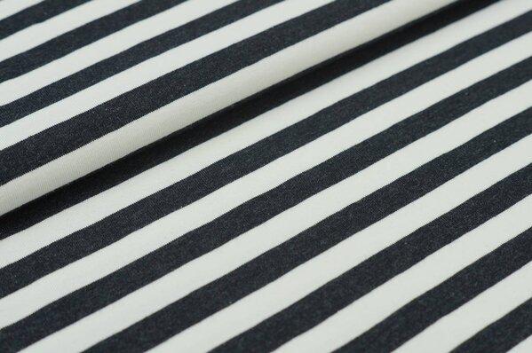 XXL Jersey Maya Streifen Ringel mittel sehr dunkelgrau melange / off white