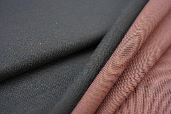 Jacquard-Sweat Ben dunkelgrau Uni mit dunkelgrau koralle lachs senf Rückseite