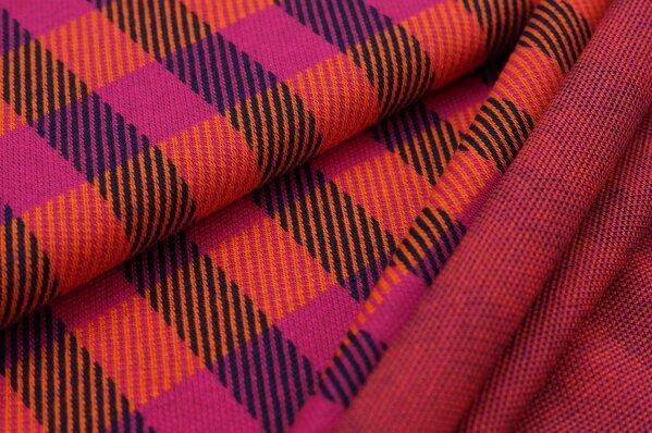 Jacquard-Sweat Ben Karos amarant pink / navy blau / orange