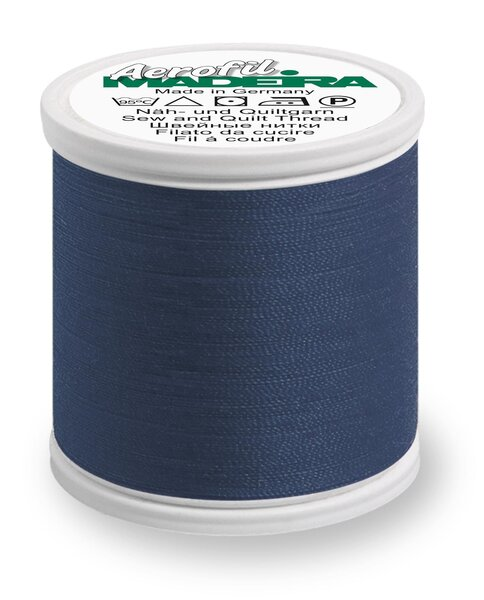 Madeira Nähgarn Aerofil No. 120 Farbe 8120 jeansblau