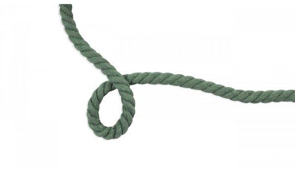 Dicke Baumwoll-Kordel gedreht rund uni altmint grün 10 mm breit