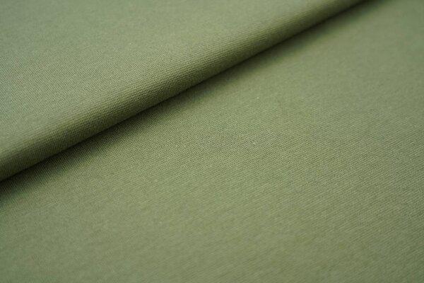 Glattes Organic Bündchen armee khaki grün